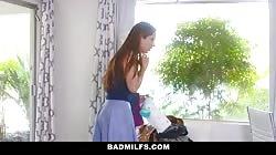 BadMilfs - Busty Milf Teaches Son How To Fuck