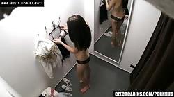 Czech Teenage Fitting Bra on Firmly Tits