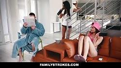 FamilyStrokes - Fucking My Sexy Stepdad While Mom Sleeps