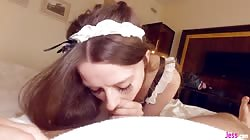 Teen Hotel Maid Gets Her Pussy Filled With Cum