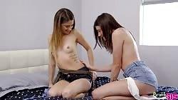 Brattysis Adria Rae And Kristen Scott My First Threesome